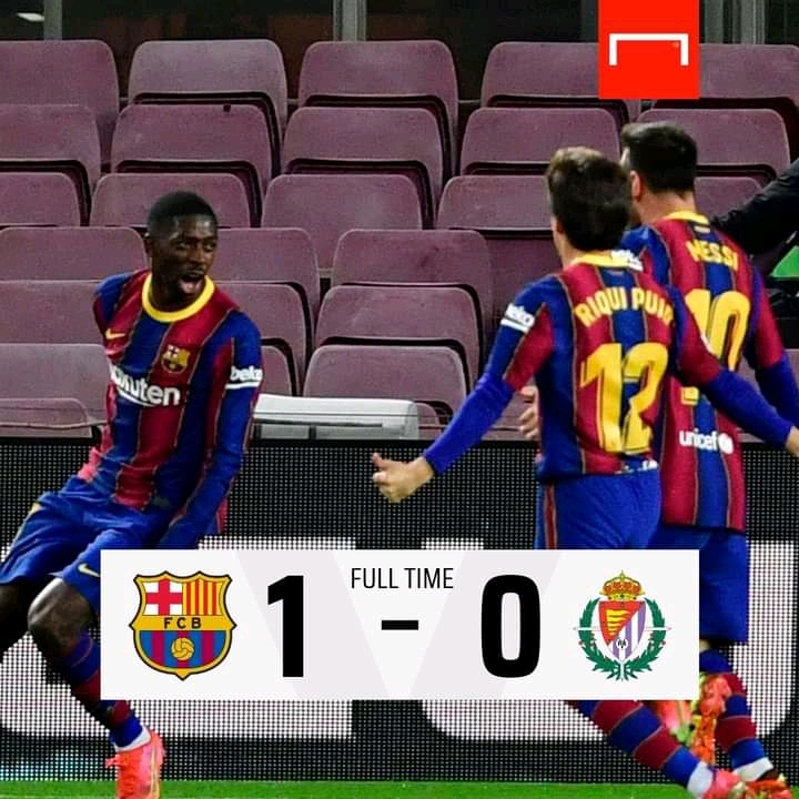 Barcelona 1-0 Real Valladolid - Highlights [DOWNLOAD VIDEO]