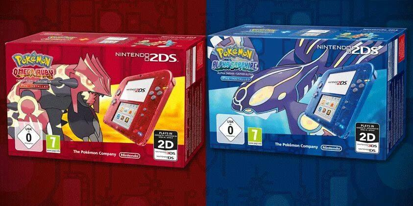 Nintendo-2DS-mit-durchsichtigem-Gehäuse