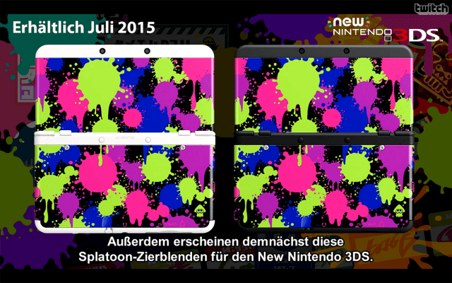 Splatoon New 3DS Zierblenden