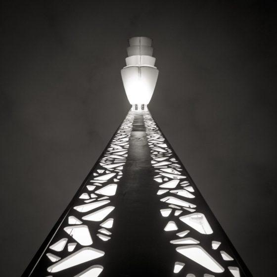 Luminaire de la gare de Bordeaux St jean.