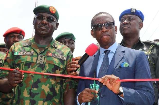 Ifeanyi Okowa at brigade Commissioning