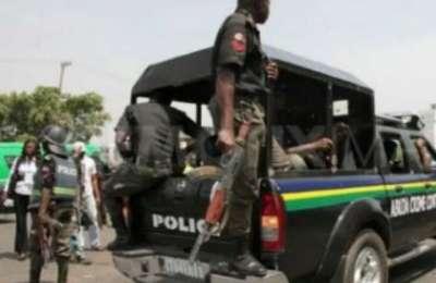 Police Van and Coronavirus lockdown