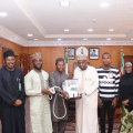 Governor Inuwa Yahaya receives young Gombe Indigenes who produced Ventilator