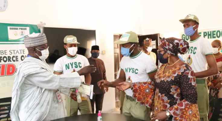 NYSC Donates Items to Task Force As Gombe Set to Produce, Distribute 1m Face Masks