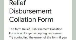Relief Disbursement Collation Form Stops_