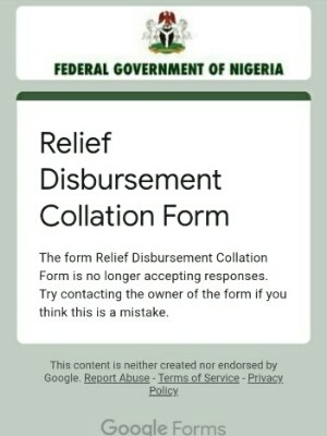 Relief Disbursement Collation Form Stops_