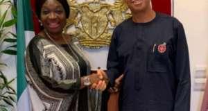 Senator Ekwunife Felicitates with Pastor Ben Akabueze at 61