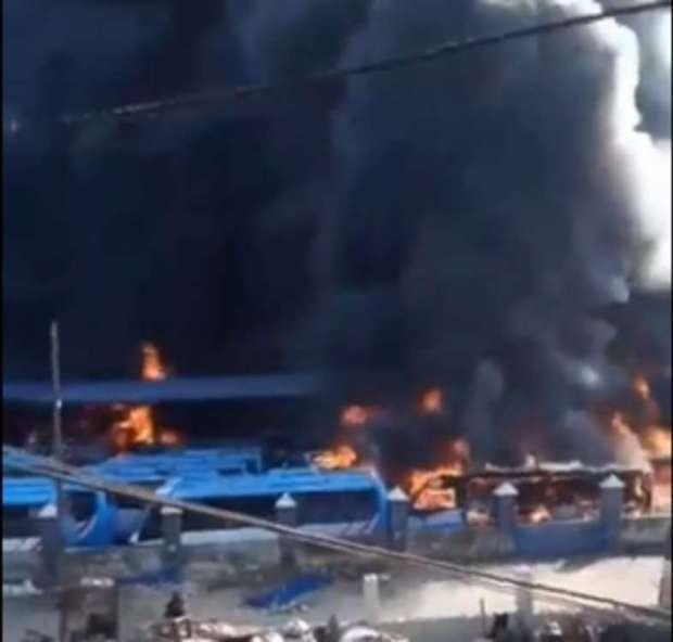 BRT Buses Oyingbo on fire
