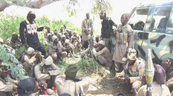 Jihadist fighters in Nigeria