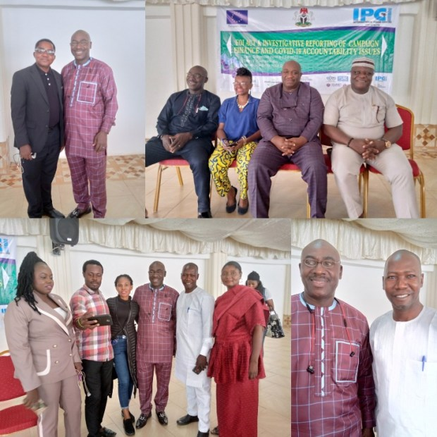 Some Participants and organisers of the Media Training Workshop on Using FOI Act for Investigative Reports on Campaign Finance and COVID-19 Accountability Issues held in Abuja
