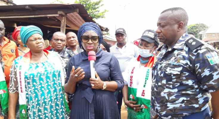 #EndSARS Vandalism: Why I am Here - Ekwunife Speaks on Inspection of Divisional Police Headquarters Ogidi