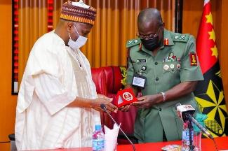 Governor Muhammadu Inuwa Yahaya and New Chief of Army Staff