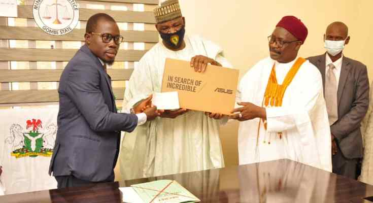 Gombe Government Assists Law Students With Laptops, Cash