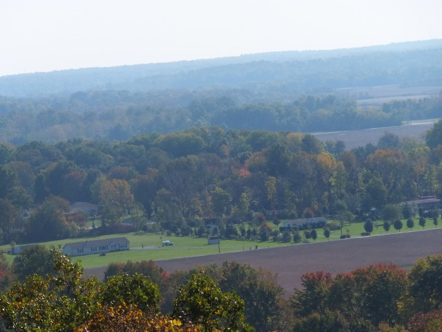 Here is a picture of an overlook from a hill.