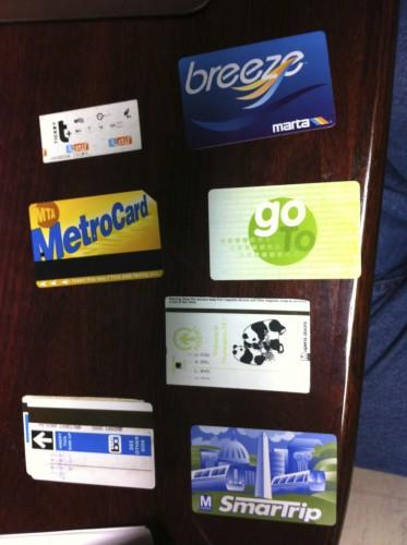 A busload of farecards