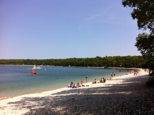 Schoolhouse Beach, an iconic Island experience.