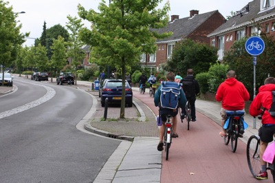 dutch children cycle bicycle track