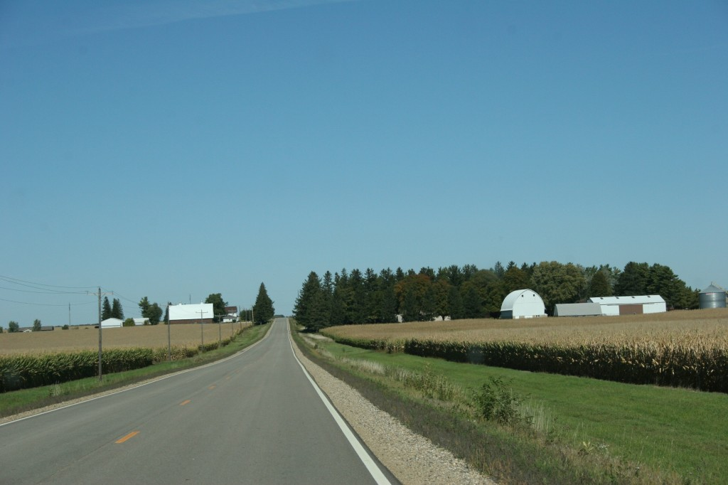 Driving U.S. Highway 14 back to Faribault.