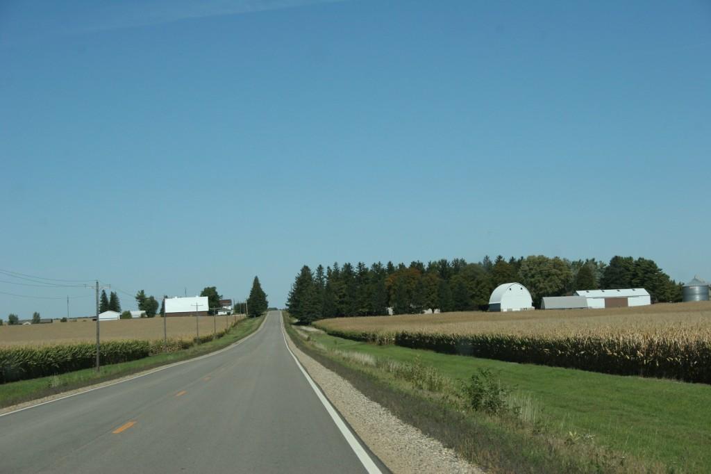 Driving U.S. Highway 14 back to Faribault.