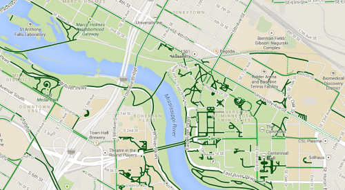 Bicycle Map, August 2013