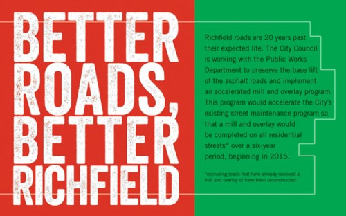 Better Roads, Better Richfield postcard