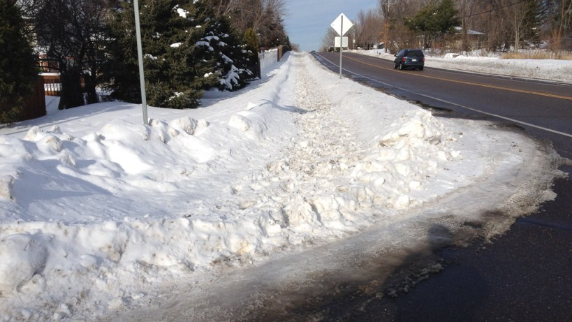 McMenemy MUP in Vadnais Heights - Even MUPs need to be plowed. Hopefully nobody depends on this one.