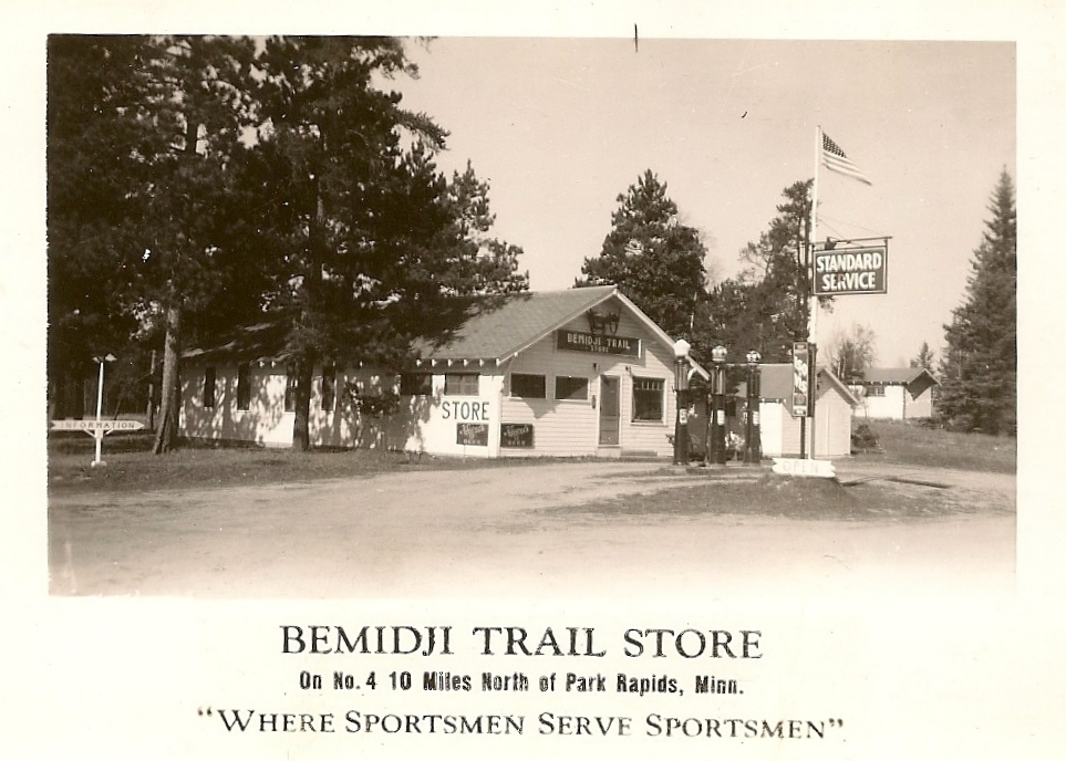 A vintage photo shows the Emmaville Store shortly after it opened in the late 1930s or early 1940s.