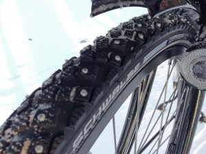 Schwalbe marathon winter tires with studs
