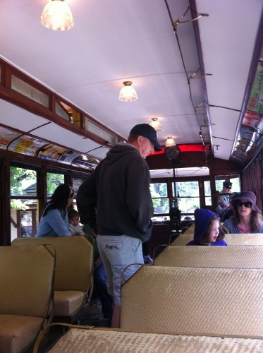 Streetcar interior view (photo by author)