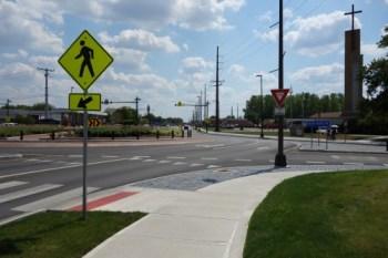 Roundabout in Hilliard, Ohio
