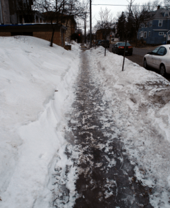 These pavements are paved with ice sheets