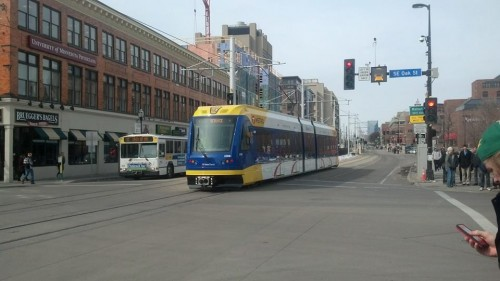 Washington and Oak LRT testing