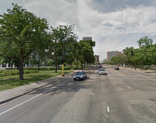 HENNEPIN AVENUE FROM 2ND STREET TOWARDS WASHINGTON AVENUE now