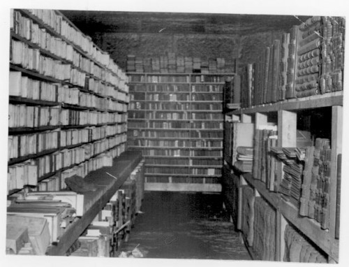 M2017, TERRITORIAL RECORDS STORED ON THE 4TH FLOOR OF THE MINNEAPOLIS CITY HALL, 1936, tribune, hclib