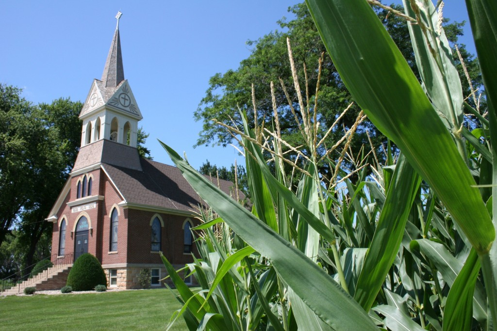 Next to nearly every country church, you will find a cemetery, including at Vista Evangelical Lutheran Church in southern Minnesota.