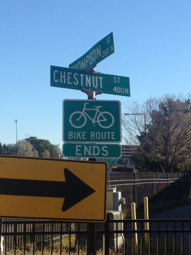 Bike Route ENDS