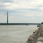 The Danube, with Bridge.