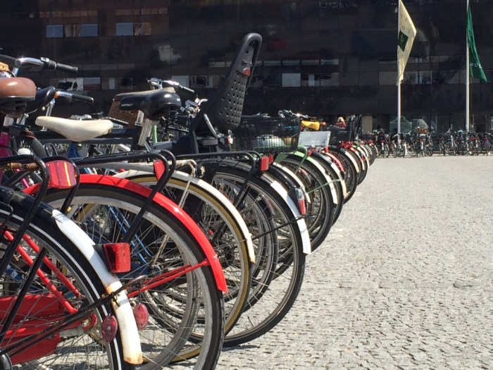 Bicycle parking at the library