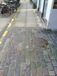 A typical Copenhage sidewalk