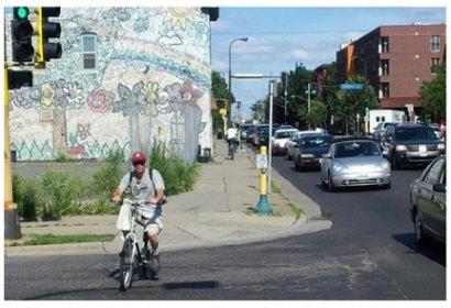 mpls franklin sidewalk cycling