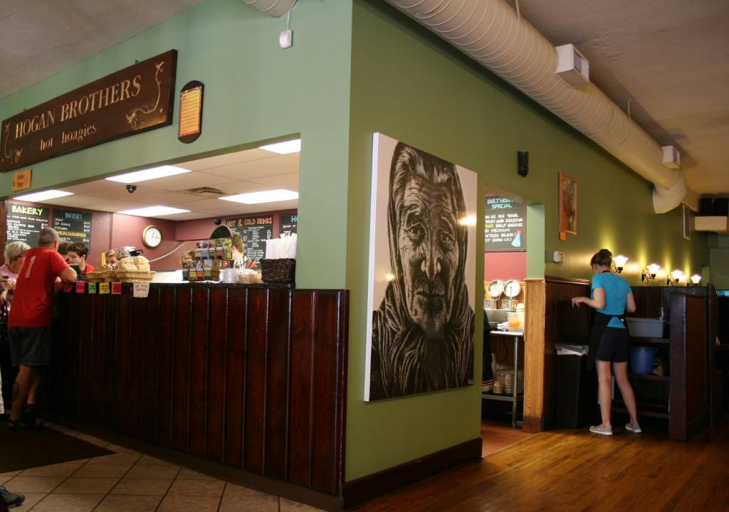 Hogan Brothers Acoustic Cafe sells original artwork showcased on its walls in downtown Northfield.