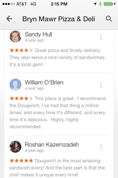 Reviews for Bryn Mawr Pizza and Deli
