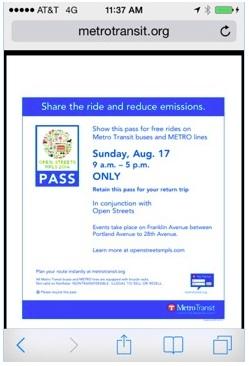 Free Metro Transit Pass