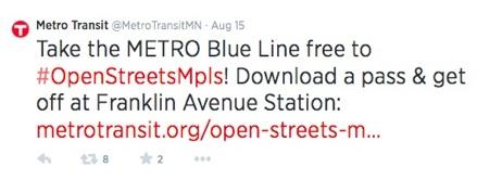 Metro Transit Tweet