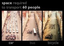 car vs bus vs bicycle