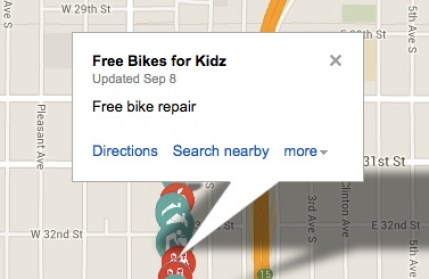 Free Bikes for Kidz Location