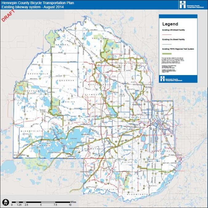 Current bikeway system (Bike Plan p. 16)