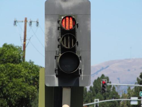 Classical California left turn arrangement.