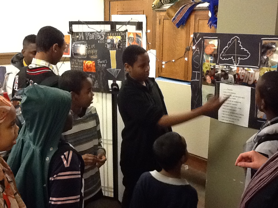 Students in Franklin library's Urban 4H club, which meets weekly in the Franklin Teen Center