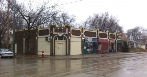 One block is bookended by two of these storefronts. This is 34th Avenue S. at 45th Street.
